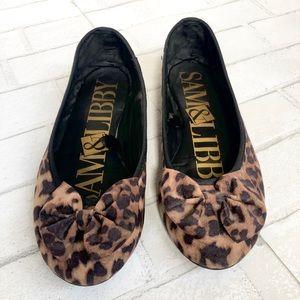 Sam & Libby leopard flats